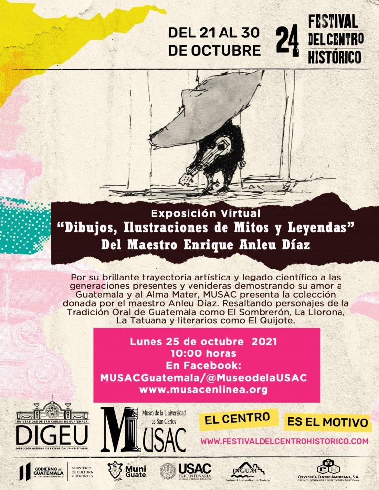 Exposición Virtual, obras del maestro Enrique Anleu Díaz